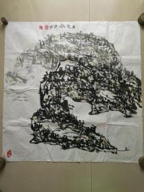 当代美术家,国家一级美术师:周胜彬国画一幅