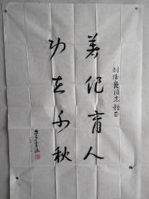 曾任南京军区工程兵参谋长、军区副参谋长、老将军 金星沐 2010年书法一幅(纸本软片,约6.3平尺,钤印:金星沐)