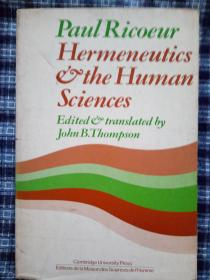 Hermeneutics And The Human Sciences