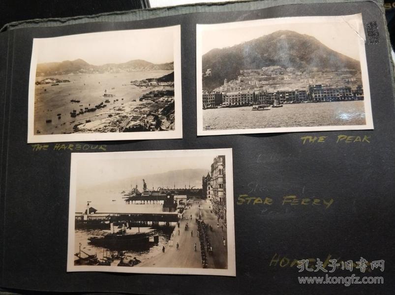 1928年香港相册老照片一组共七张