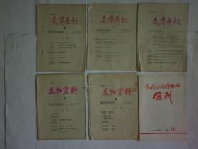 1979----20世纪80年代初运城地区博物馆编印的六册馆刊(三种名称)【合售、参阅详细描述】