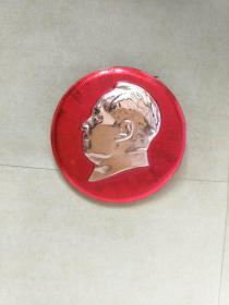 毛主席像章。4CM。反面毛主席万岁,.正面无图案,自己上世纪60年代收藏保存至今,大部份是未用过