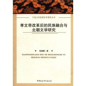 孝文帝改革后的民族融合与北朝文学研究