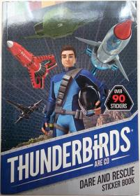 thunderbirds are go dare and rescue sticker book  雷鸟是敢去营救贴纸书   平装