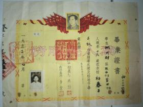 陕西省蓝田县初级中学 毕业证书