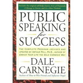 Public Speaking for SuccessPenguin9781585424924【闪电发货】 Dale Carnegie 戴尔·卡耐基 Penguin 2000-01 9781585424924