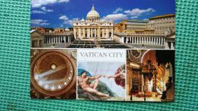 梵蒂冈名信片 孤件