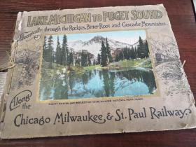 美国:芝加哥至密尔沃基·圣保罗铁路沿线风光彩色摄影集 1914年