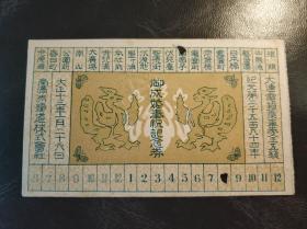 民國東北大連南滿洲鐵道大正十三年鐵路紀念車票一張