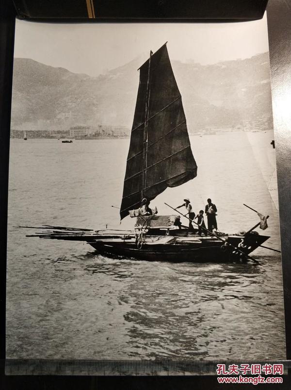 民国香港渔船新闻老照片一张