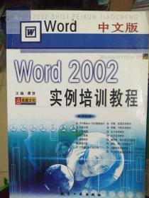 中文版Word 2002实例培训教程
