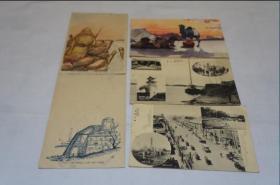 二战明信片   5枚     军事邮便