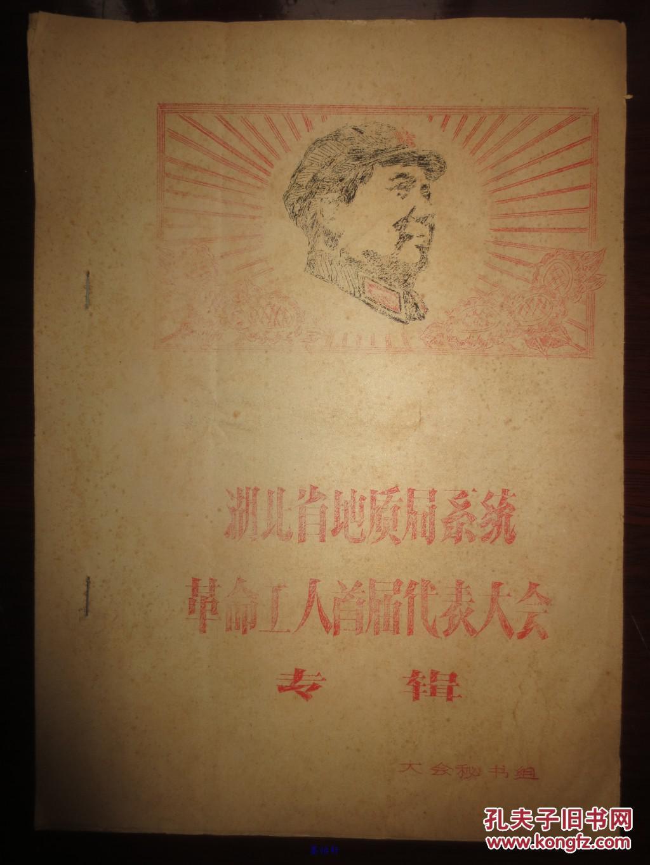 湖北省地质局系统革命工人首届代表大会专辑