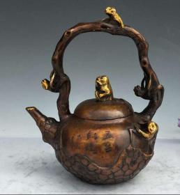 黄铜提梁壶