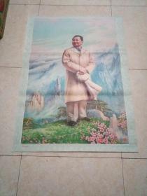 全开年画宣传画  邓小平在黄山
