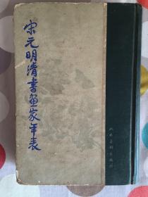 宋元明清书画家年表 (58年出版62年2印)精装版品相佳珍藏