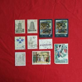 中国古代文学家曹植古典文学名著牡丹亭三国演义红楼梦古塔邮票