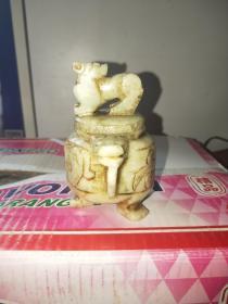 老玉香炉,手工雕刻,老货