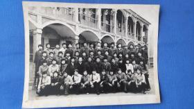 许村中学八年级二班毕业合影留念 1988年5月1日