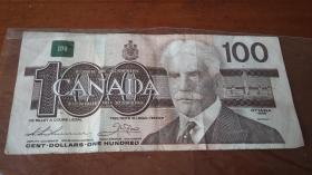加币100元(旧币)