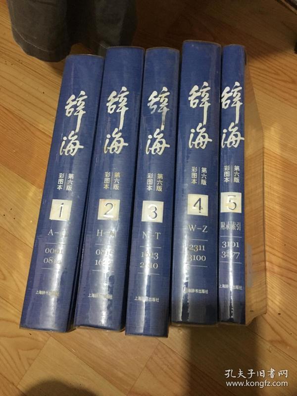 辞海(第6版彩图本共5册)(精)