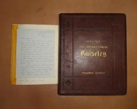 1880年Ancient Parish of Guiseley 《古刹图考》极珍贵初版本 全摩洛哥羊皮豪华装桢巨册 手工绵纸印制 限量预定本 版画插图 品佳