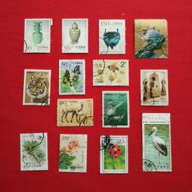 2003-3东北虎1998-22龙泉窑瓷器1999-3钧窑瓷器1997-9.93-11邮票