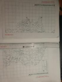 胶州直隶州高密县自治区域图甲乙2张【该地最早的按比例尺绘制的地图】