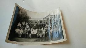 照片 四平师范专科学校 数学三年一班毕业留影(在学校门口照的)1963年