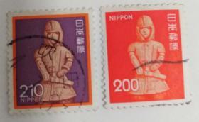 外国日本邮票人物(信销票2枚)