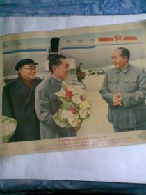 毛主席和周恩来,朱委员长在一起(宣传画)
