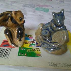发财鼠水滴,小摆件,两件合售