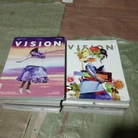 VISION青年视觉 2011年11月号;2014年3.4.9.10.12月号;2015年3.4.5.6.10.11;2017年5.6.9.10月号(共14本)其中有双月合刊