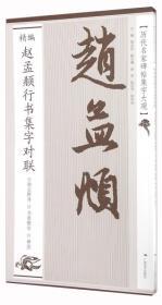 精编赵孟頫行书集字对联/历代名家碑帖集字大观