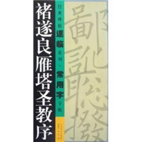 经典碑帖速临系列·常用字字帖:褚遂良雁塔圣教序