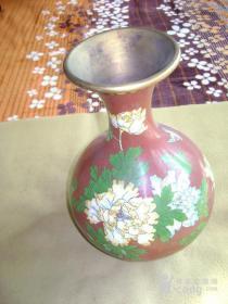掐丝珐琅彩景泰蓝、天球大瓶