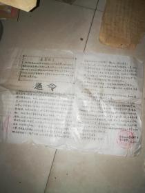 国际红卫军 株洲兵团第九分队 通令  1967年