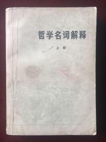 哲学名词解释 (上册)