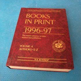 BOOKS IN PRINT 1996-1997