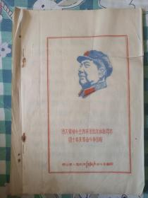 油蓝印    伟大领袖毛主席亲密战友林彪同志四十年来革命斗争历程   衡山县红新兵战斗组   极少见