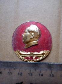 毛主席像章,大寨证章厂,尺寸图为准