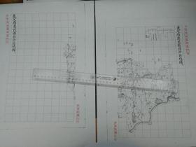 武定府惠民县自治区域图甲乙2张【该地最早的按比例尺绘制的地图】