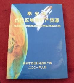 泰安市岱岳区地质矿产资源(书中很多地质图)硬精装(应该一版一印)--G