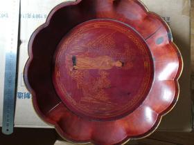 木质漆器果盘(民国)