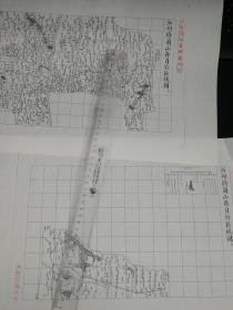 沂州府兰山县自治区域图甲乙丙丁4张【该地最早的按比例尺绘制的地图】