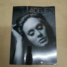 Adele: 21(piano vocal guitar 英文原版樂譜)阿黛爾:21(鋼琴聲樂吉他)