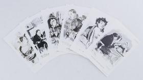 阿庚 画 藏书票--死魂灵系列(6张) 培尔纳尔特斯基 刻