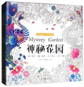 神秘花园+奇幻森林+时间旅程+童话梦境(套装全4册 减压涂色绘本 附24色彩铅)