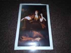 希登施女士像(英   根斯巴洛作品)油画画片