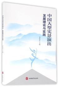 中国大型实景演出发展理论与实践【正版库存书.一版一印.内页干净】
